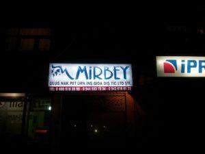 Mirbey Nak. Işıklı Tabela