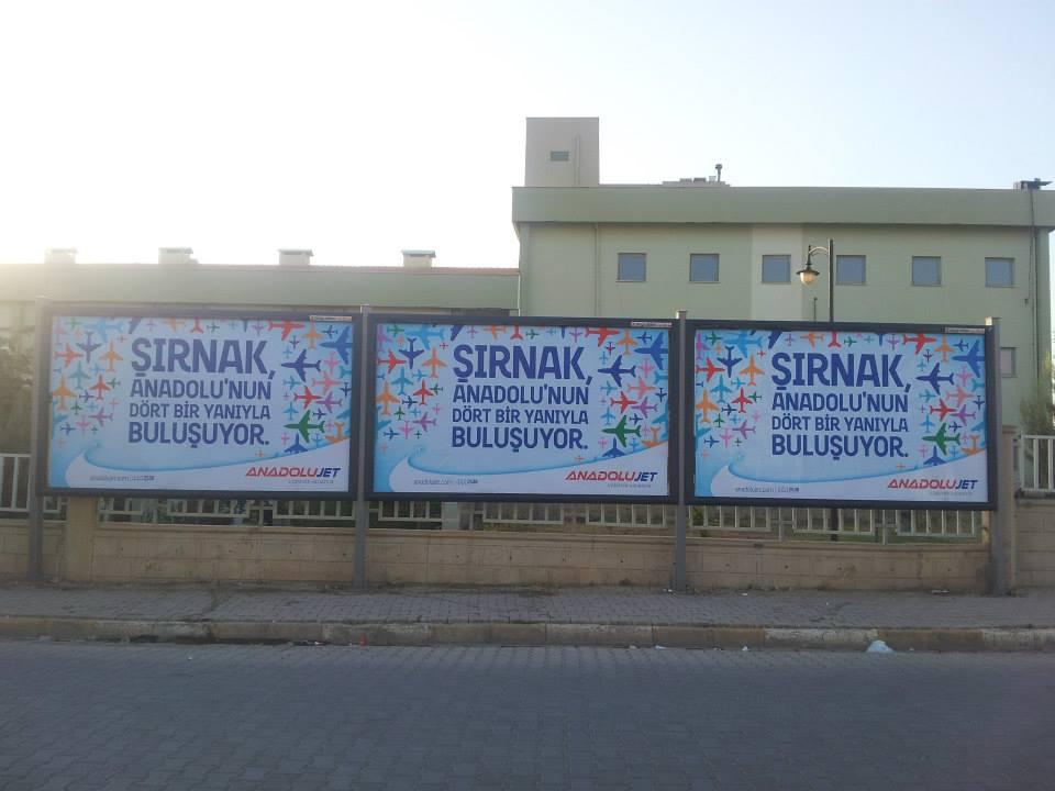 Anadolu Jet Billboard Çalısması