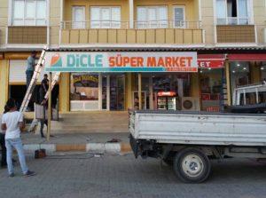 Dicle Süper Market Işıksız Kutu Harf