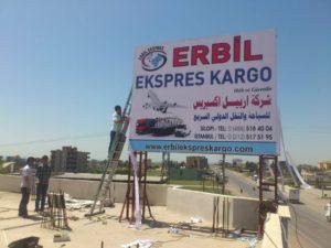 Erbil Express Cargo Cephe Tabelası