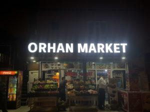 Orhan Market Pleksi Kutu Harf