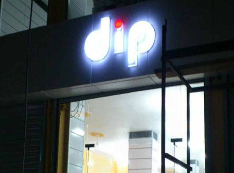 Dip Mağazası Pleksi Işıklı Kutu Harf