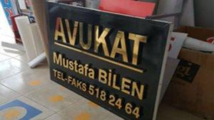 Kutu Harf Tabela- Avukat Mustafa Bilen
